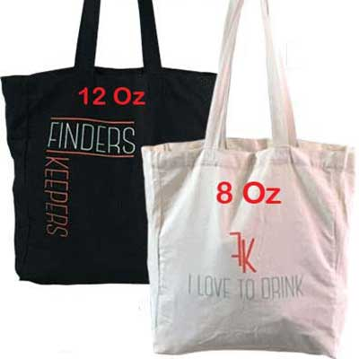 A3 size cotton canvas bags with base