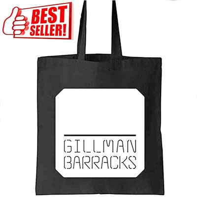 ready stock black A4 size cotton canvas tote bags