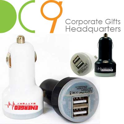 Singapore customized USB car chargers with 2 usb ports