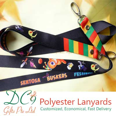 Customized Sentosa Buskers Festival 2013 Polyester Lanyards Supplier in Singapore