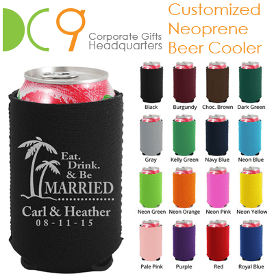 Singapore customized neoprene beer cooler and neoprene corporate gifts supplier