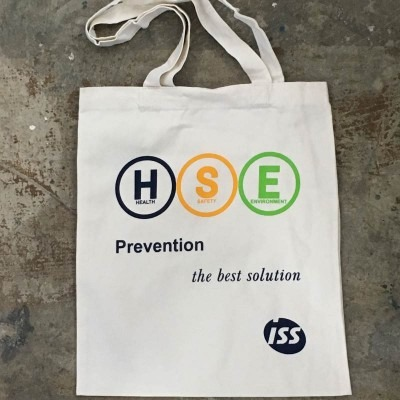 Canvas Bag Printing for ISS Facility Services Pte Ltd in Singapore