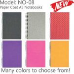 NO-08: Wire-O Paper Coat A5 Size Notebooks