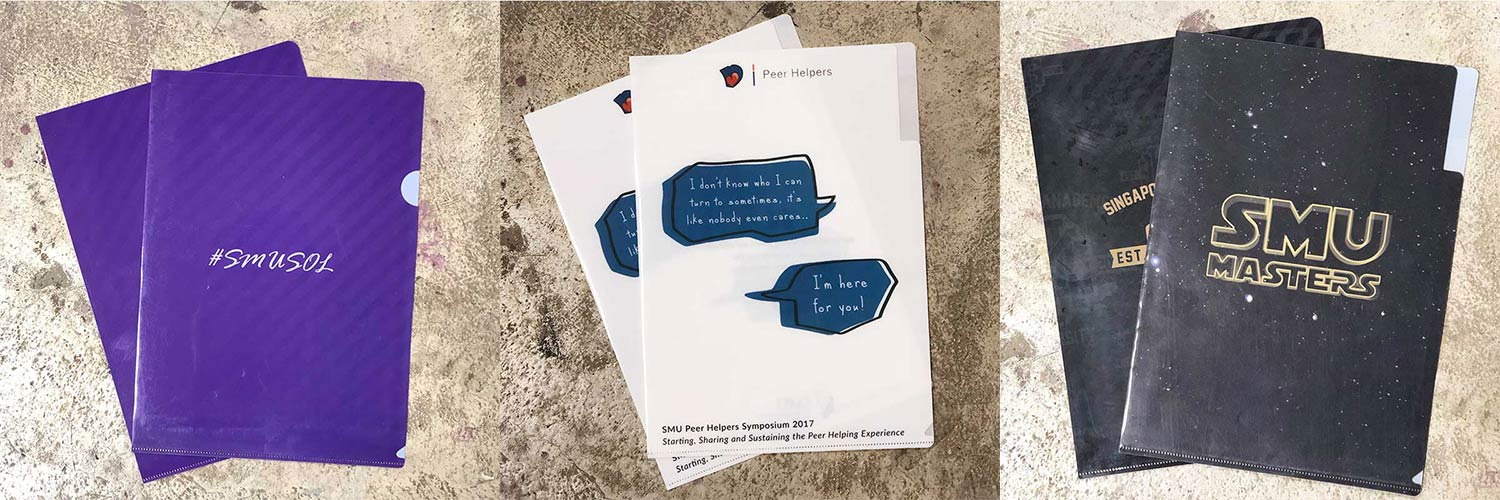 Who can supply customized PP L-Shape Folders and Button Folders in Singapore?