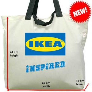 large IKEA cotton canvas tote bags