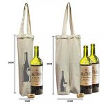CB-19: Wholesale Single and Double Canvas Wine Bags