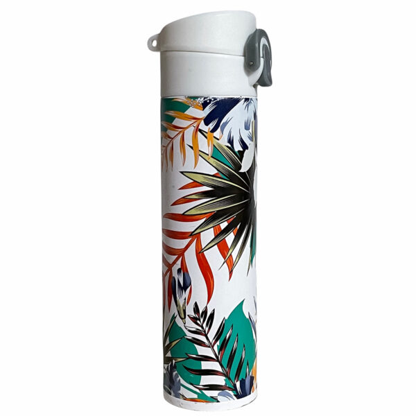 White thermal flasks with full color printing