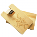 WUSB-08: Credit Card Type Wooden USB